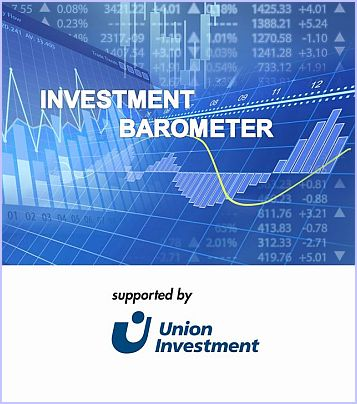 Logo Investment Barometer supported by Union Investment